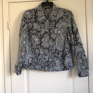 Vintage Paisley jacquard Jean style Jacket